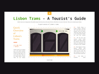 Lisbon's Tram - Web