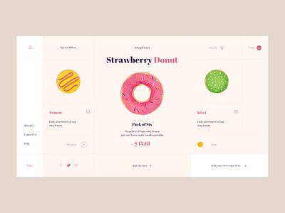 Donuts - UI Design ux ui web vector color illustration design