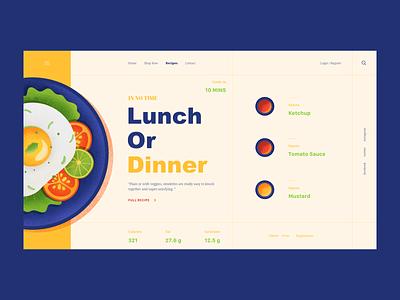 Omelette noise egg food dish ux ui web vector color illustration design