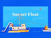 Sunset Float - UI & Illustration