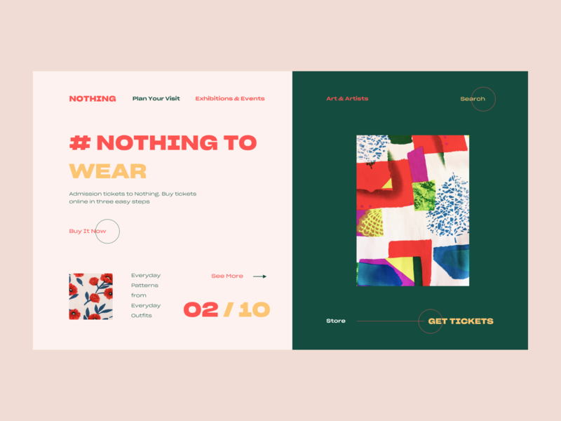 Nothing To Wear pattern ux ui web vector color design