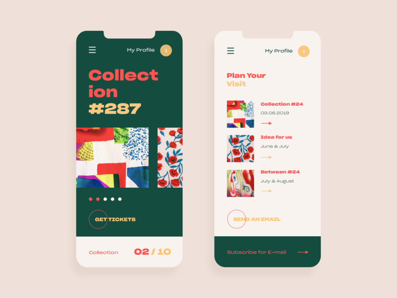 Pattern Collection floral pattern mobile ux ui web vector color design