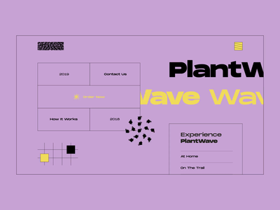 Layout #3 / Music of Plants flat after effects landing georgia plantwave music sound animation ui web vector color design