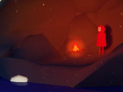 """""""Boy"""" Concept camp fire low poly game design cave boy survival island unity cinema4d 3d art concept"""