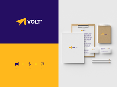 VOLT vector logomark branding marketing online design negative space minimal icon logo