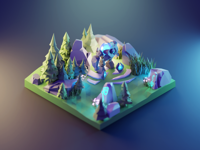 League of Legends league of legends fanart lowpolyart low poly diorama isometric lowpoly render blender illustration 3d