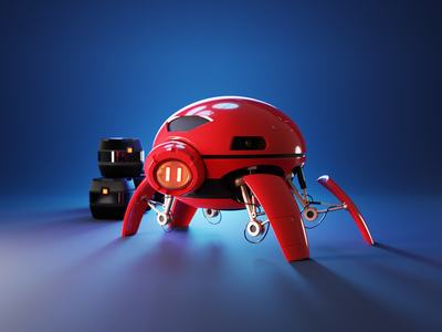 Beetle Bot 3d character character robot design robots robot render blender illustration 3d