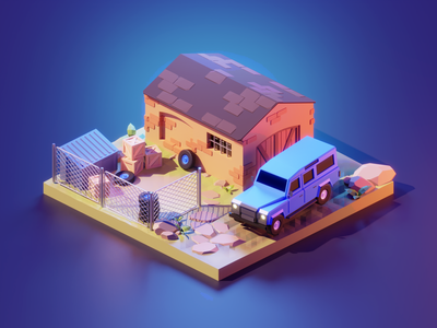 Warzone fanart lowpolyart low poly diorama isometric lowpoly render blender illustration 3d