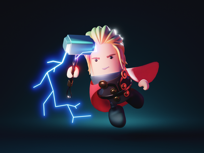 Thor marvel avengers thor 3d character character illustration character design character render blender illustration 3d