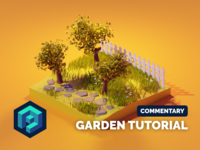 Garden Tutorial tutorial garden lowpoly lowpolyart diorama low poly isometric render blender illustration 3d