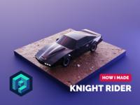Knight Rider Tutorial car knight rider kitt tutorial model isometric diorama render blender illustration 3d