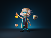 Stan the Scientist sci-fi cyberpunk scientist character illustration 3d character character design character render blender illustration 3d