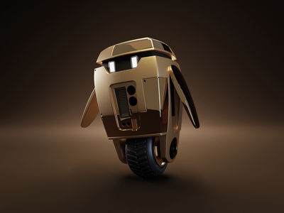Now in Gold and Midnight Green! robot bot midnight green space gray gold product render render blender illustration 3d