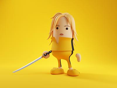 Beatrix Kiddo character illustration 3d character beatrix kiddo kill bill characterdesign character render blender illustration 3d