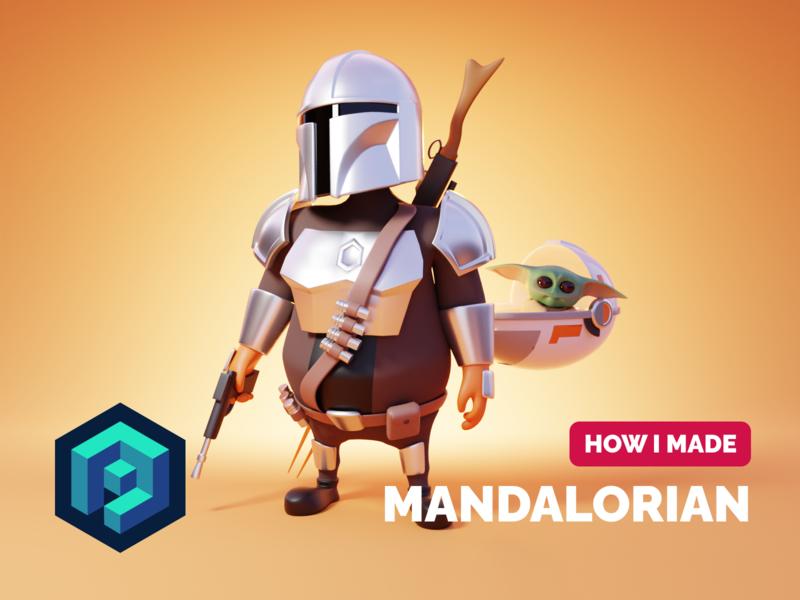 Mandalorian Tutorial baby yoda star wars mandalorian tutorial character design 3d character character render blender illustration 3d