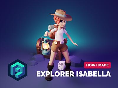 Isabella Character Tutorial tutorial 3d character modeling 3d character character design render blender illustration 3d
