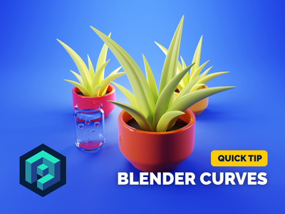 Plant Tutorial 3d illustration modeling tutorial tutorial procedural plant render blender illustration 3d
