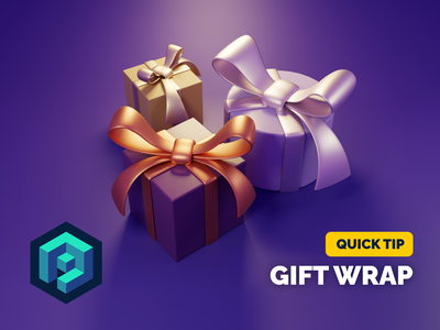 Gift Wrap Tutorial tutorial christmas xmas bow gift render blender illustration 3d