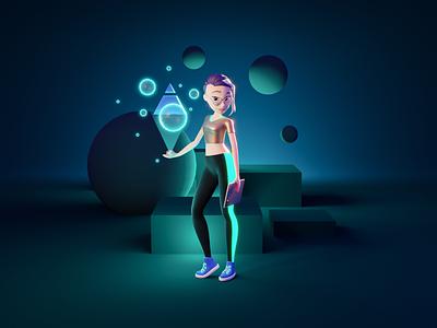Ursula the Digital Artist nft artist digital artist female character 3d character characterdesign character art character render blender illustration 3d