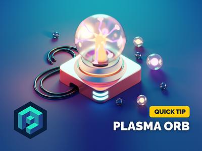 Plasma Orb Tutorial lighting plasma orb tutorial isometric render blender illustration 3d