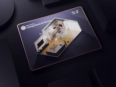Smart Home 3D Experience 3d app experience smart home 3d ui 3d ux 3d experience product design isometric render blender illustration 3d