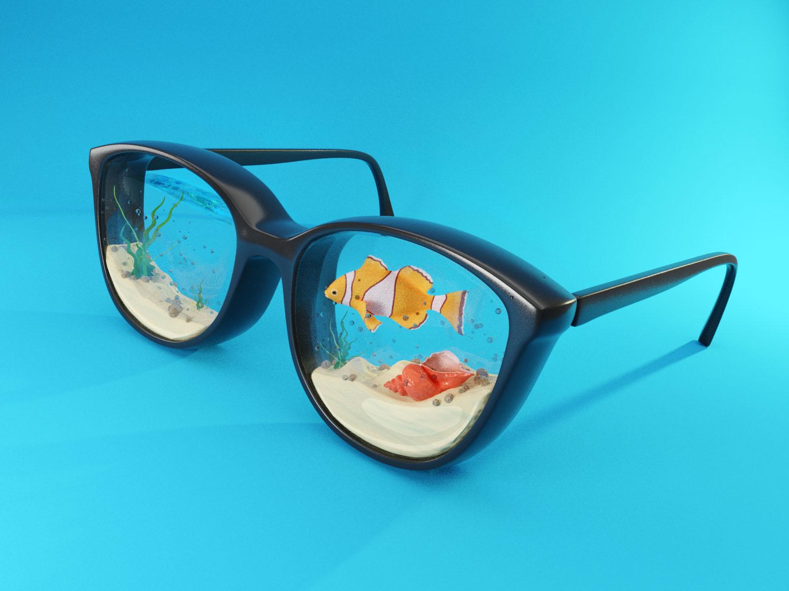 Glasses 3 4x