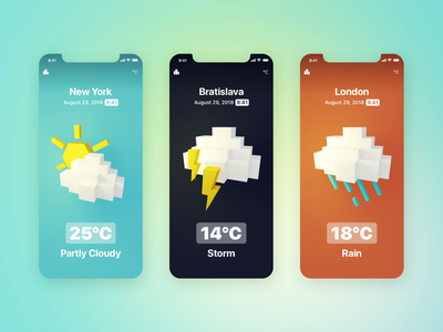 Weather Icons ⛅️🌩🌧