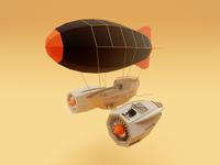 Fantasy Airship in Color