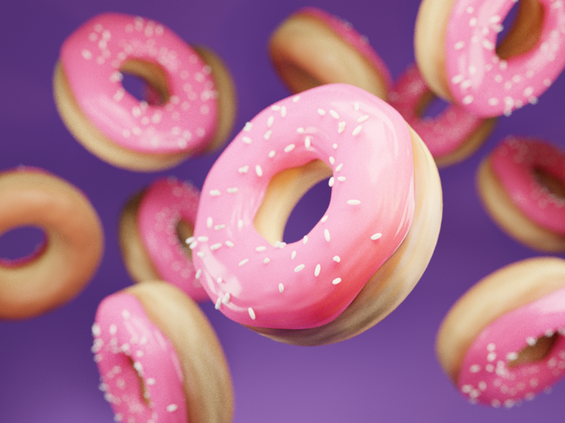 Fuel pt. II falling craving sweets sugarrush sugar donuts pbr render blender design illustration 3d