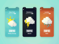 Animated Weather UI