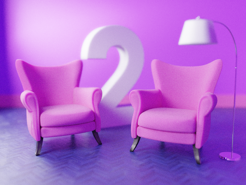Two invites! 🏀🏀 architecture chairs two invites invite room lamp chair interior render design blender illustration 3d