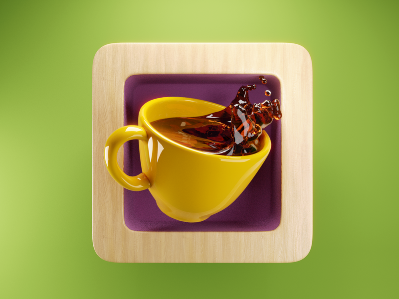 Coffee Icon ☕️ launcher app cup coffee ux ui icon render design blender illustration 3d