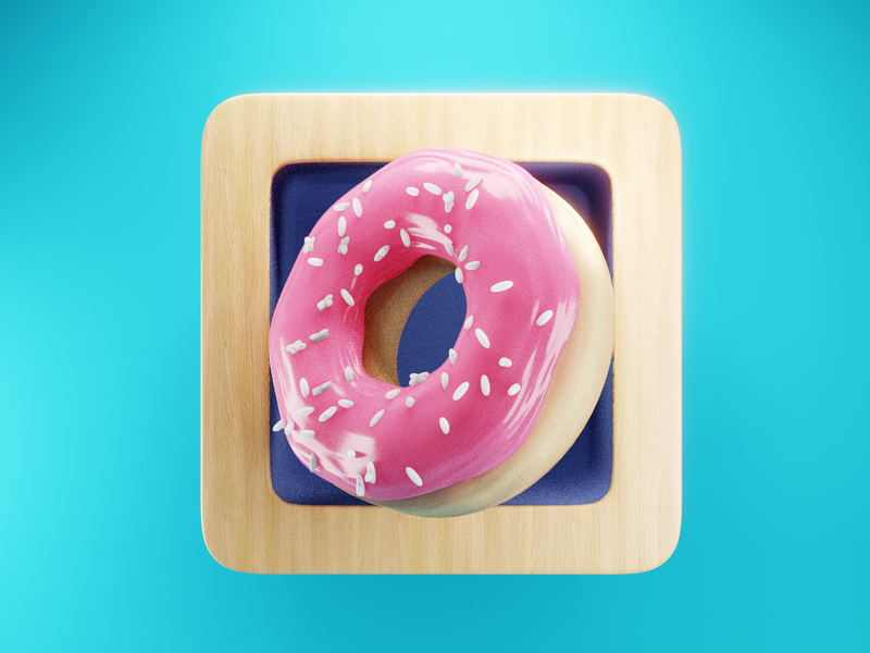 Donut Icon 🍩 app launcher donut icon ui render design blender illustration 3d