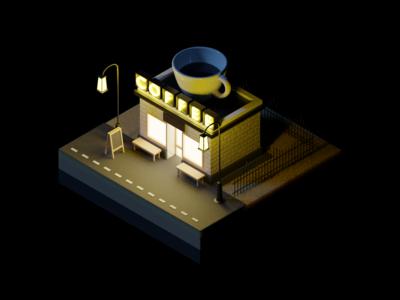 Coffeeshop at Night