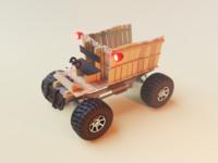 Wooden Cart 4x4