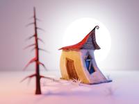 Tim Burton Styled Cabin