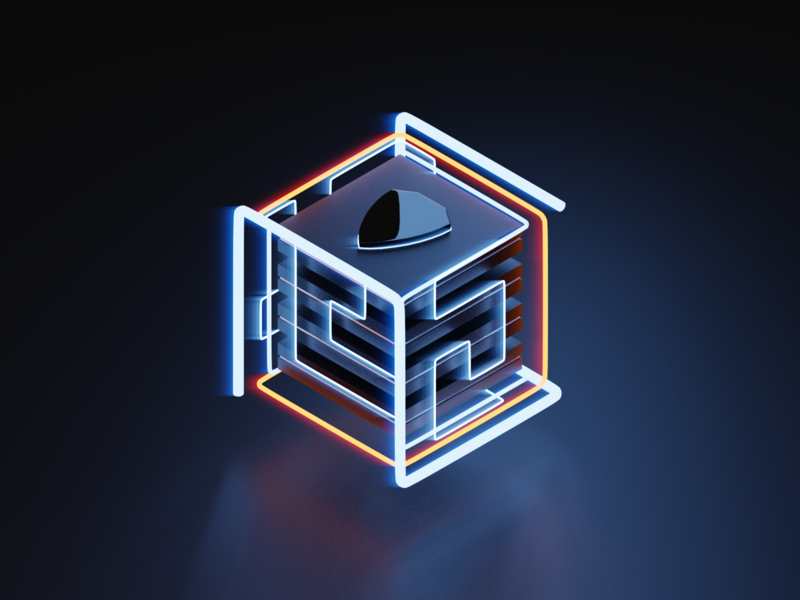 Security Illustration future technology innovation security banking isometric icon ui render design 3d blender illustration