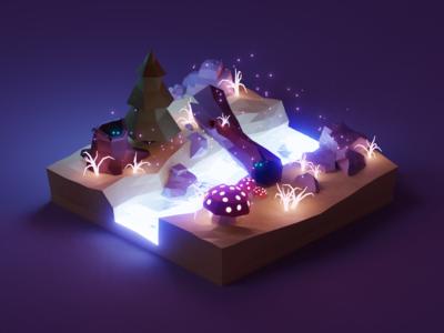 Enchanted Night Diorama