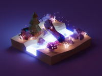 Enchanted Night Diorama