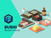 Sushi Low Poly Isometric Tutorial 👨‍🎓