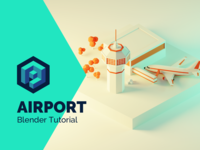 Airport Tutorial in Blender 2.8