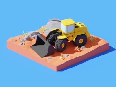 Construction Loader Diorama
