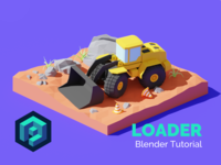 Construction Loader - Blender Tutorial 👨‍🎓