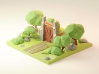 Jurrassic Park Diorama 🦖