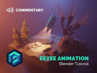 Eevee Animation Tutorial eevee fanart harrypotter tutorial animation motion lowpolyart diorama low poly model isometric lowpoly render design blender illustration 3d