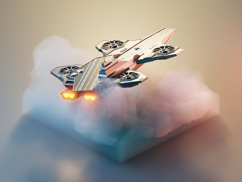 Avengers Helicarrier helicarrier marvel avengers fanart lowpolyart diorama low poly model isometric lowpoly render design blender illustration 3d