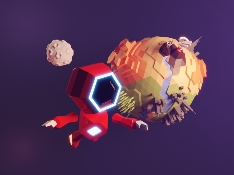Space Collection astronaut moon planet little planet assets space vectary 3d vectary lowpolyart low poly model isometric lowpoly render design illustration 3d