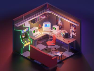 80's Hacker Room
