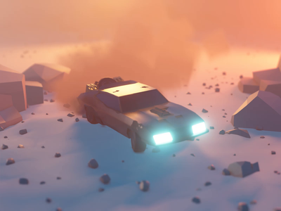 Mad Max Animation mad max motion 3danimation animation lowpolyart low poly lowpoly render blender illustration 3d