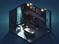 The Study at Night